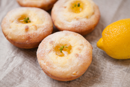 オレンジとレモンのチーズケーキ