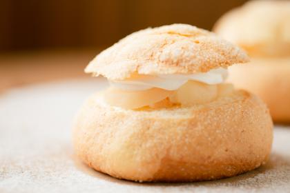 洋梨のメロンパン